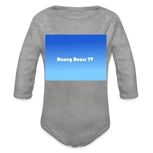 Honey Bears TV Merch - Organic Longsleeve Baby Bodysuit