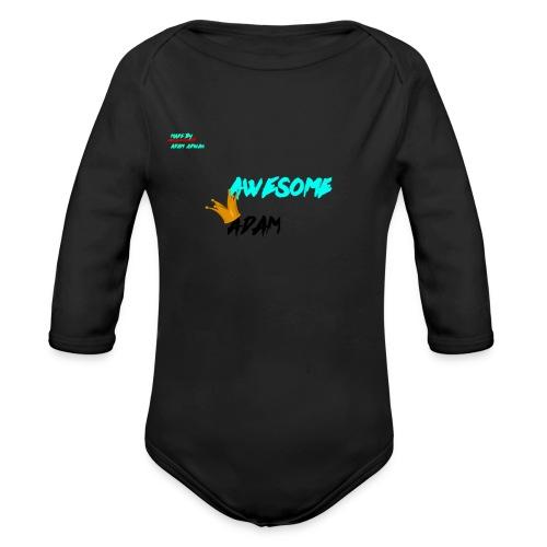 king awesome - Organic Longsleeve Baby Bodysuit