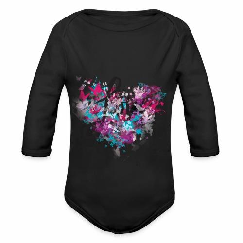 Love with Heart - Organic Longsleeve Baby Bodysuit