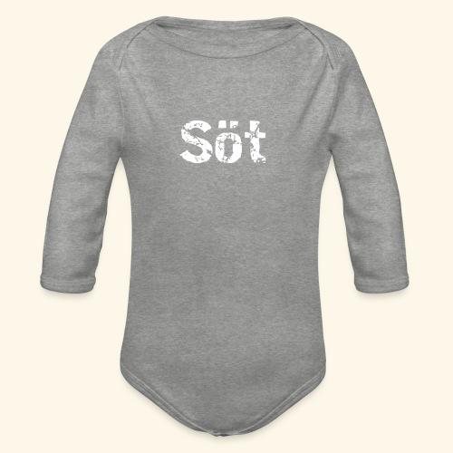 sot - Ekologisk långärmad babybody