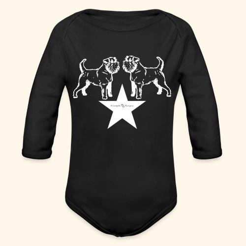 Brussels Griffon star - Body Bébé bio manches longues