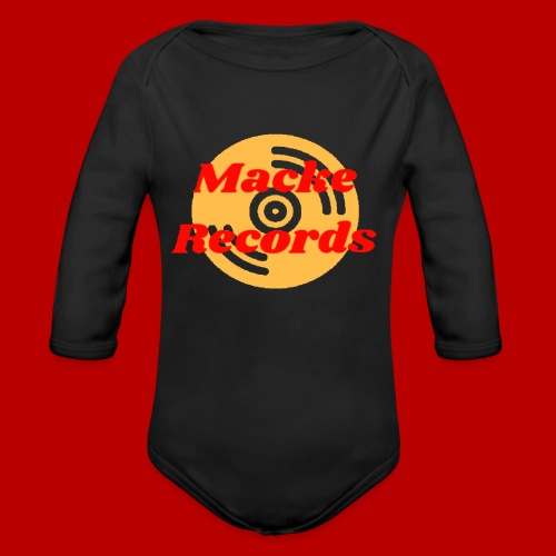 mackerecords merch - Ekologisk långärmad babybody