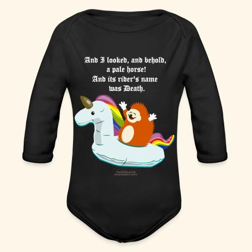 Geek T Shirt Igel, Einhorn & Johannes-Offenbarung - Baby Bio-Langarm-Body