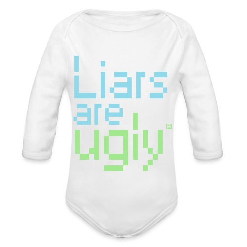 Liars Are Ugly - Baby bio-rompertje met lange mouwen