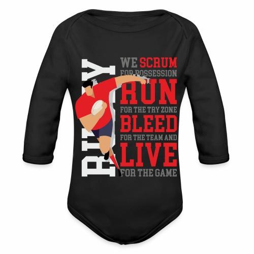 MarPlo Scrum Run Live Red - Body ecologico per neonato a manica lunga