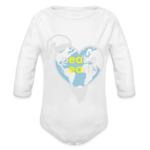 MR Peace on Earth - Baby bio-rompertje met lange mouwen