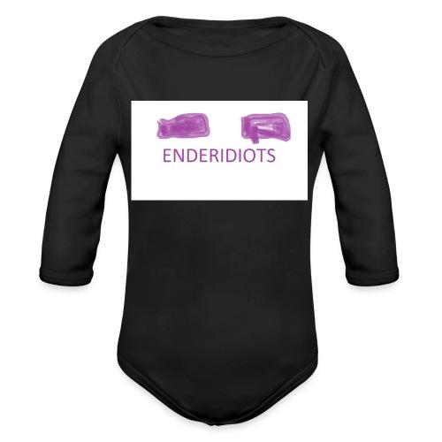 enderproductions enderidiots design - Organic Longsleeve Baby Bodysuit