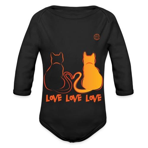 The Red Twins LOVE LOVE LOVE - Body ecologico per neonato a manica lunga