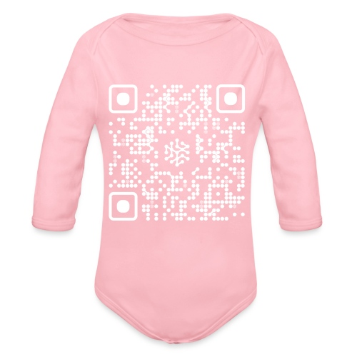QR Safenetforum White - Organic Longsleeve Baby Bodysuit
