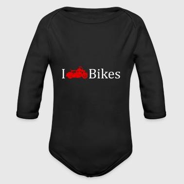 Amo le moto idea regalo Rocker - Body ecologico per neonato a manica lunga