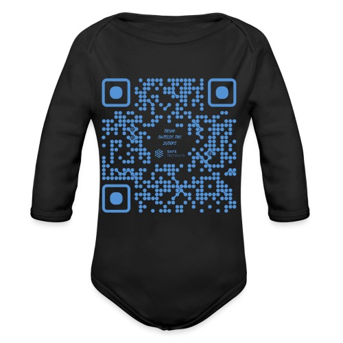 QR The New Internet Shouldn t Be Blockchain Based - Organic Longsleeve Baby Bodysuit