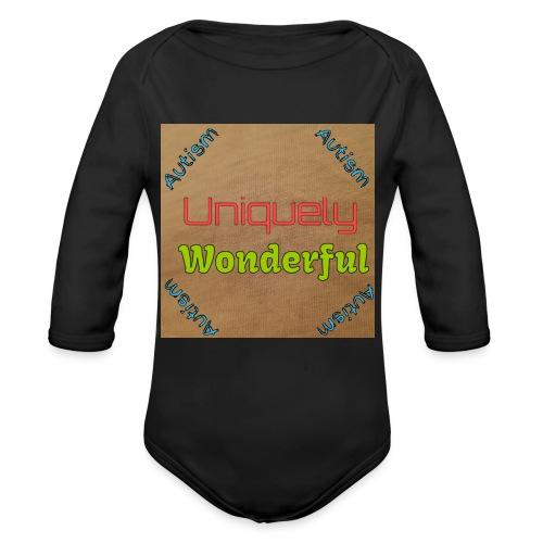 Autism statement - Organic Longsleeve Baby Bodysuit