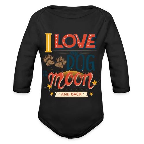 Moon Dog Light - Ekologisk långärmad babybody