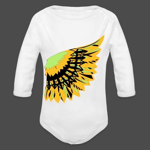 Owl Colour Redraw - Organic Longsleeve Baby Bodysuit