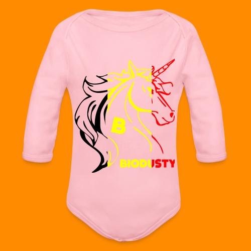 belgian biodusty unicorn hoodie unisex - Baby bio-rompertje met lange mouwen