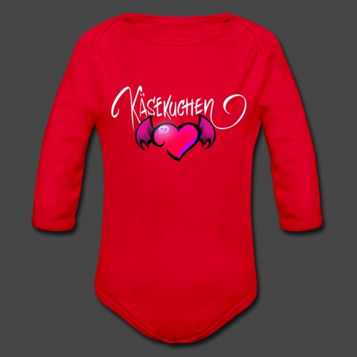 Logo and name - Organic Longsleeve Baby Bodysuit