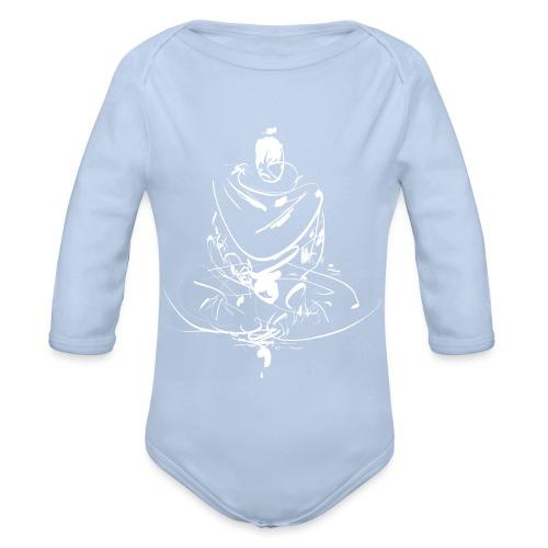 Iaido Samurai Zen Meditation - Organic Longsleeve Baby Bodysuit