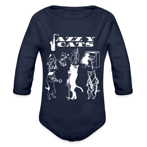 Jazzy Cats - Body Bébé bio manches longues