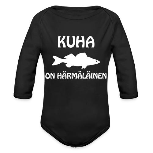 KUHA ON HÄRMÄLÄINEN - Vauvan pitkähihainen luomu-body