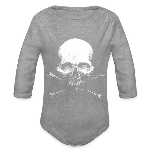 Old Skull - Body ecologico per neonato a manica lunga