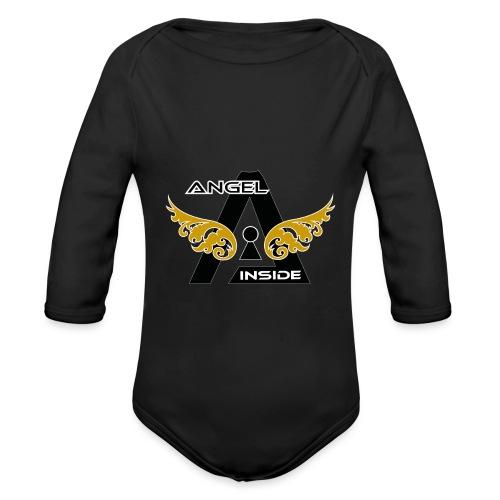ANGEL INSIDE2-01 - Body ecologico per neonato a manica lunga