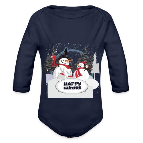 happy winter - Body Bébé bio manches longues