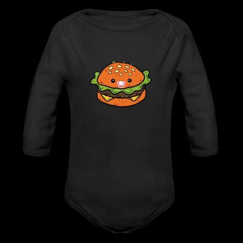 Star Burger Baby - Baby bio-rompertje met lange mouwen