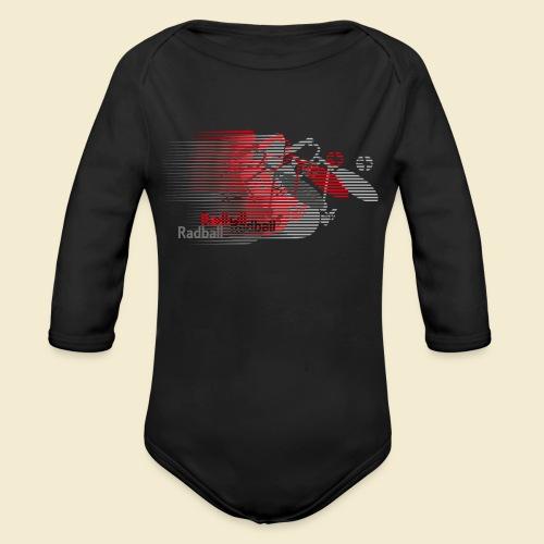 Radball | Earthquake Red - Baby Bio-Langarm-Body