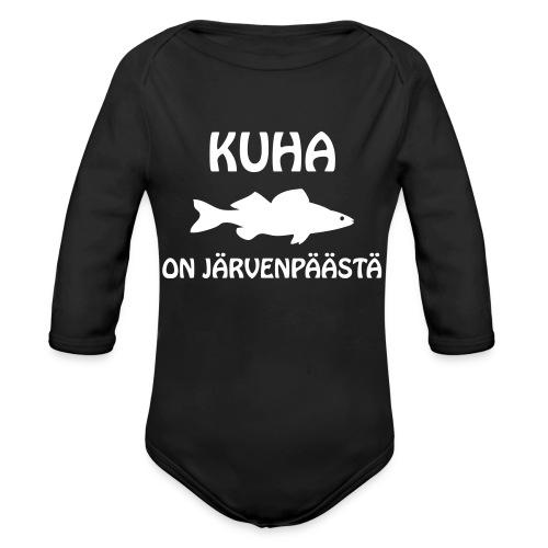 KUHA ON JÄRVENPÄÄSTÄ - Vauvan pitkähihainen luomu-body