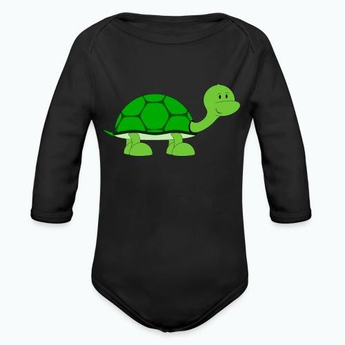 Totte Turtle - Appelsin - Ekologisk långärmad babybody