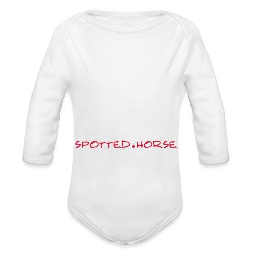Cuore Appaloosa Spotted.Horse - Body ecologico per neonato a manica lunga