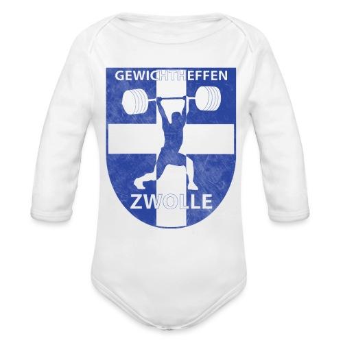 Merchandise - Baby bio-rompertje met lange mouwen