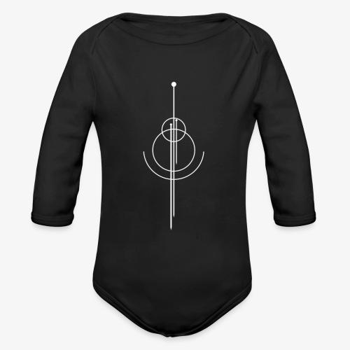 Geometrisches Design - Baby Bio-Langarm-Body