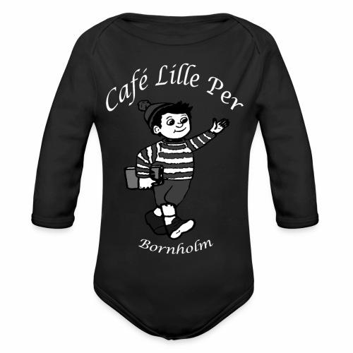 Cafe LillePer Logo BW - Langærmet babybody, økologisk bomuld