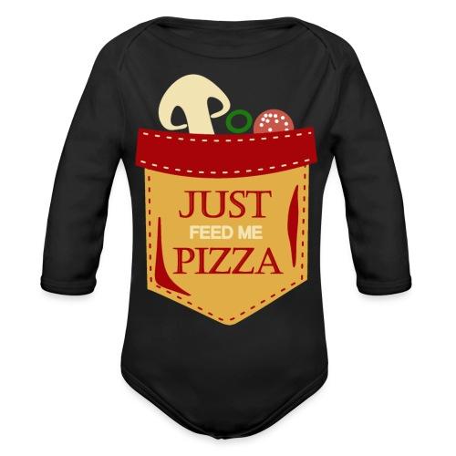 Dammi solo la pizza - Body ecologico per neonato a manica lunga
