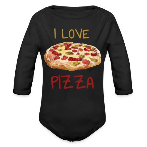 I love Pizza - Baby Bio-Langarm-Body