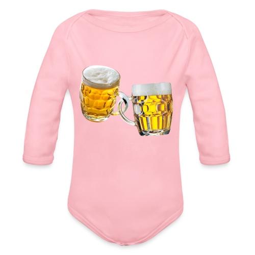 Boccali di birra - Body ecologico per neonato a manica lunga