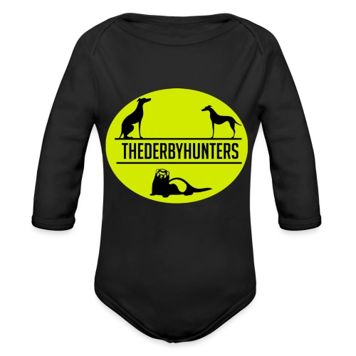 the derby hunters-yellow - Organic Longsleeve Baby Bodysuit