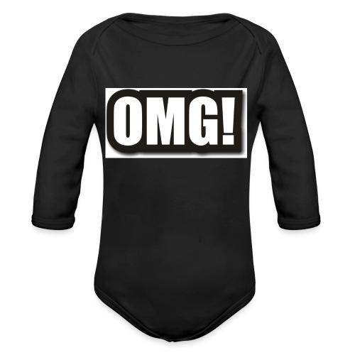 large wordprops omg - Ekologisk långärmad babybody