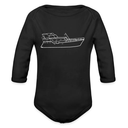 Hausboot Weiss - Baby Bio-Langarm-Body