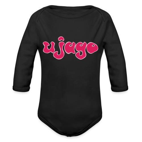 ujago magenta - Baby Bio-Langarm-Body