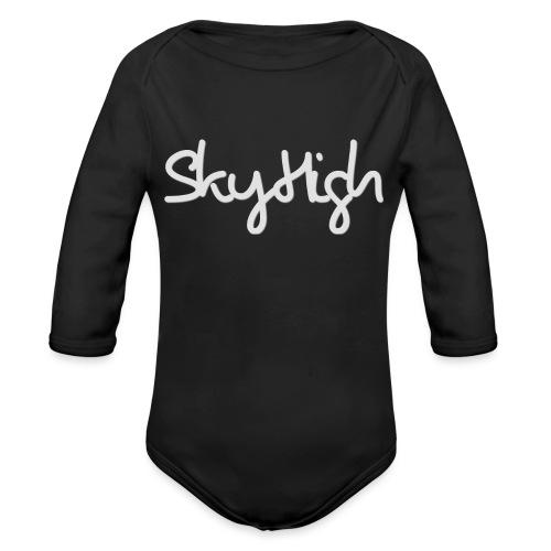 SkyHigh - Women's Premium T-Shirt - Gray Lettering - Organic Longsleeve Baby Bodysuit