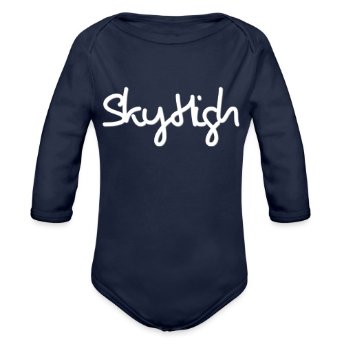SkyHigh - Women's Hoodie - White Lettering - Organic Longsleeve Baby Bodysuit