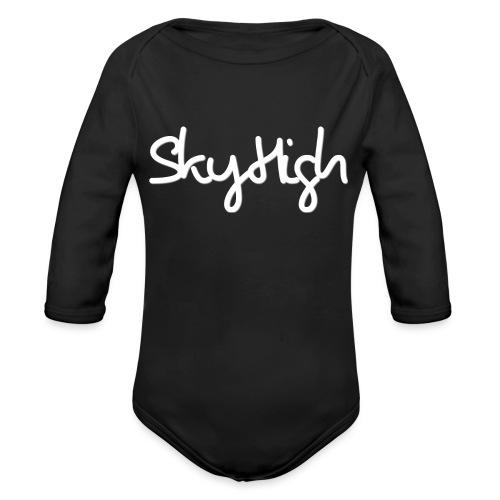 SkyHigh - Men's Premium Hoodie - White Lettering - Organic Longsleeve Baby Bodysuit