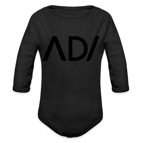 Anpassa AD / logo - Ekologisk långärmad babybody