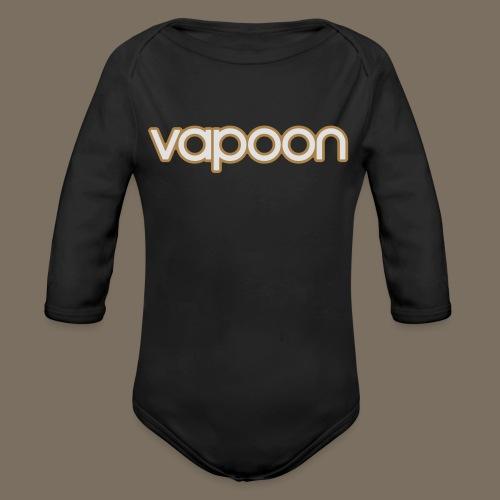 Vapoon Logo simpel 2 Farb - Baby Bio-Langarm-Body