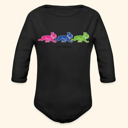 frenchies multicolor - Body Bébé bio manches longues