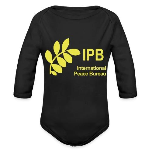 International Peace Bureau IPB Logo - Organic Longsleeve Baby Bodysuit