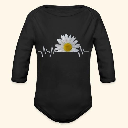 Margerite, Herzschlag, Gänseblümchen, Pulsschlag - Baby Bio-Langarm-Body