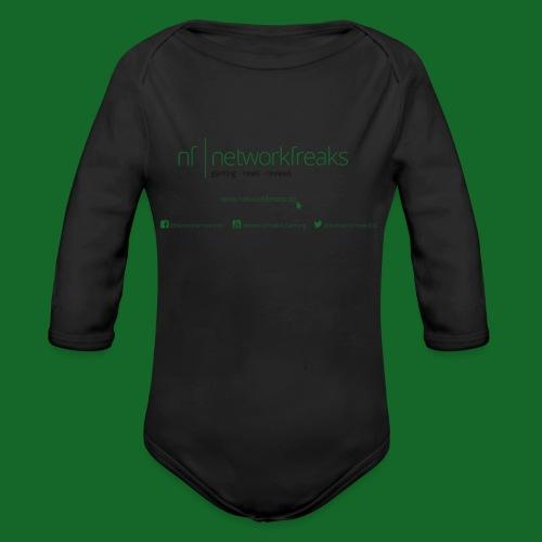 Kaffeetasse NetworkFreaks Grüne Aufschrift - Baby Bio-Langarm-Body